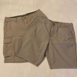 Men's khaki shorts bundle, Size 33